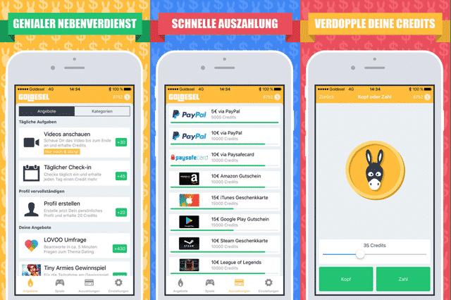 Goldesel App Angebote