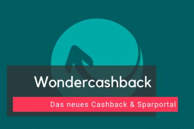 Wondercashback - Neues Cashback & Sparportal