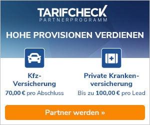 Tarifcheck Partnerprogramm Werbung